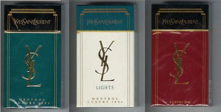 cigarettes Yves Saint Laurent