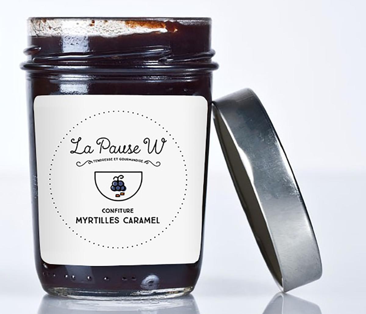 Confiture Myrtilles Caramel pour le goûter ! (photo de La Pause W)