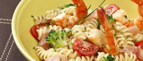 recette de salade de pates au gambas et brocolis