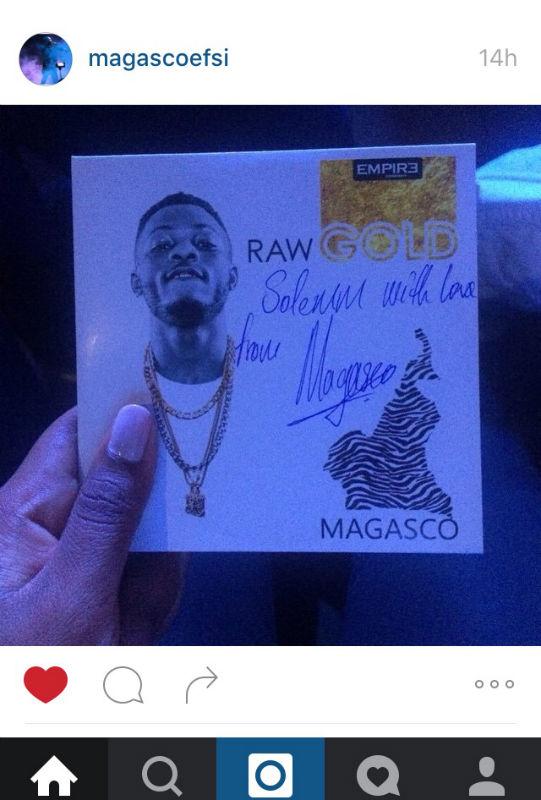 Mon EP Raw gold de Magasco - Lisez la dédicace et comprenez mon émotion ;)