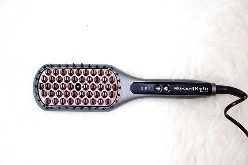 revue keratin protect remington fer à lisser intelligent brosse lissante