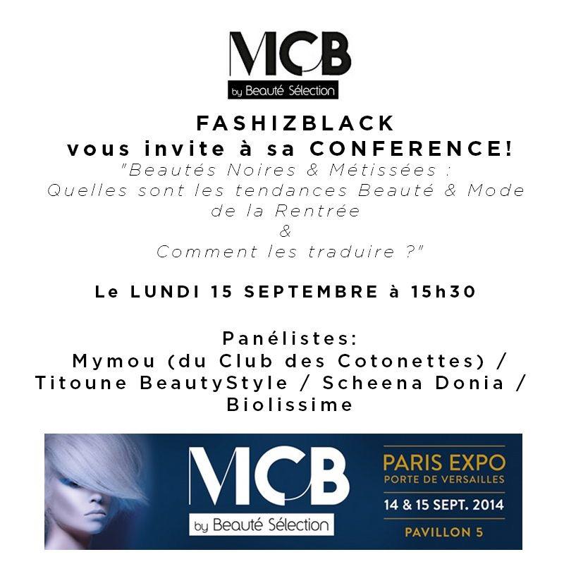 mcb beauté style conference fashiz black tendances de la rentrée noires et metisses