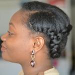 coiffure de flemmarde printemps courronne de tresses cheveux crépus naturels