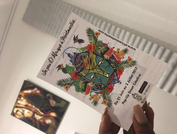 un peu d'afrique à montmartre, pop up , street, art africain