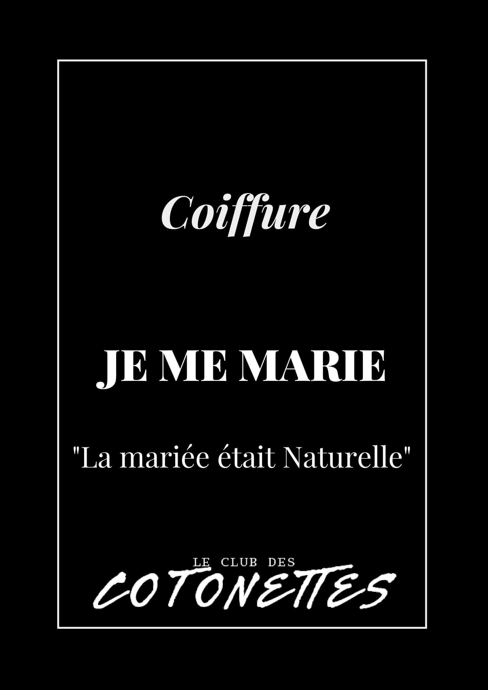 [:fr]Coiffure - Je me marie avec mes cheveux naturels[:]