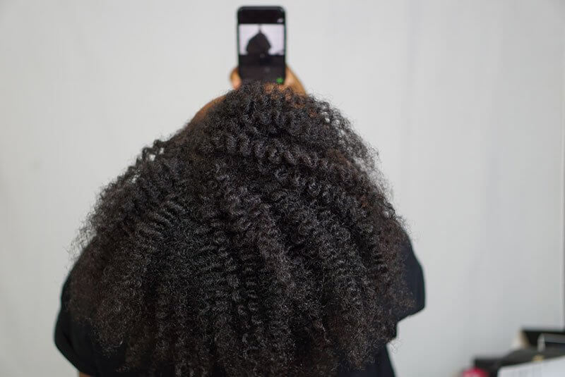 twist out parfait sur cheveux de type 4B 4C